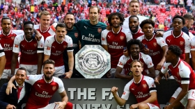 Arsenal lift first silverware of the season