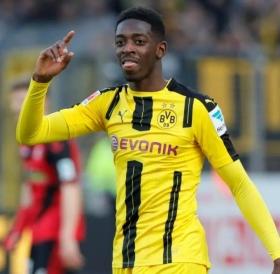 Ousmane Dembele confirms Barcelona link
