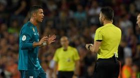 Ronaldo sent off as Real beat Barcelona