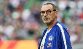 Maurizio Sarri reacts after Chelseas derby defeat at Tottenham Hotspur