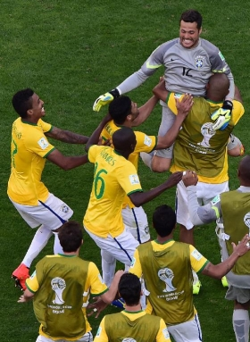 Brazil sneak past Chile via penalty shoot-out