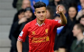 Philippe Coutinho out for six weeks through injury