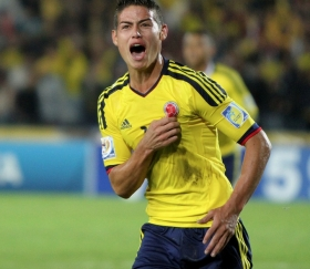 James Rodriguez fires Colombia into the quarter finals